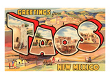 Greetings from Taos, New Mexico Posters