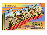 Greetings from Marfa, Texas Prints