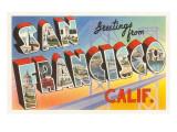 Greetings from San Francisco, California Poster
