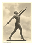 German Female Athlete, with Javelin Kunstdrucke