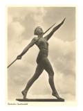 Atleta tedesca con giavellotto Poster