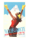 Valle d'Aoste Ski Resort Advertisement Art