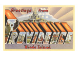 Greetings from Providence, Rhode Island Print