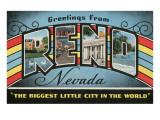 Greetings from Reno, Nevada Art