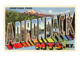 Greetings from Adirondack, New York Print