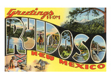 Greetings from Ruidoso, New Mexico Print
