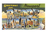Greetings from Newport, Rhode Island Posters
