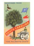 Greetings from South Carolina, The Palmetto State Kunstdrucke