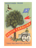 Greetings from South Carolina, The Palmetto State Prints