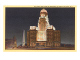 Night, City Hall, Buffalo, New York Prints