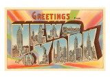 Greetings from New York City Posters