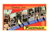 Greetings from Kenosha, Wisconsin Posters