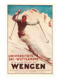 Affiche allemande de ski Affiches
