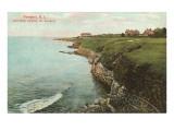 Weg über die Klippen, Wellenbrecher, Newport, Rhode Island Poster