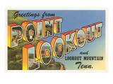 Greetings from Point Lookout, Tennessee Prints