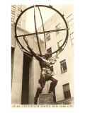 Atlas-Statue, Rockefeller Center, New York City Poster