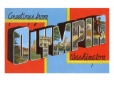 Greetings from Olympia, Washington Prints