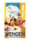 Advertisement for Swiss Ski Resort Prints