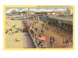 Boardwalk, Asbury Park, New Jersey Kunstdrucke