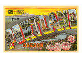Greetings from Portland, Oregon Posters