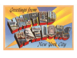 Greetings from United Nations, New York City Posters