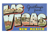 Greetings from Las Vegas, New Mexico Posters