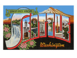 Greetings from Seattle, Washington Prints