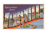 Greetings from Zanesville, Ohio Prints