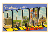 Greetings from Omaha, Nebraska Poster