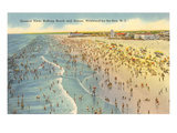 Beach Scene, Wildwood-by-the-Sea, New Jersey Poster