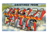 Greetings from Niagra Falls, New York Posters