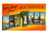 Greetings from Rochester, New York Prints