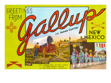 Greetings from Gallup, New Mexico Prints