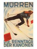 Affiche allemande de ski Affiche