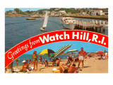 Greetings from Watch Hill, Rhode Island Prints
