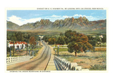 Organ Mountains, Las Cruces, New Mexico Stampe