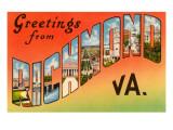 Greetings from Richmond, Virginia Prints