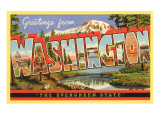 Greetings from Washington Posters