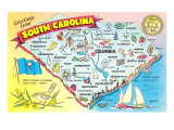 Map of South Carolina Posters