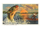 Pêche au crépuscule Posters