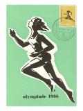 Olympic Runner, 1956 Premium Giclee-trykk