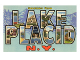 Greetings from Lake Placid, New York Prints