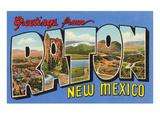 Greetings from Raton, New Mexico Prints