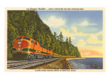 Streamlined Train, Seattle, Washington Posters