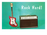 Guitar & Amp - Rock Hard! Posters