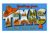 Greetings from Texas Prints