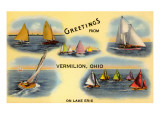 Greetings from Vermilion, Ohio, Sailboats Posters