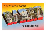Greetings from Barre, Vermont Print