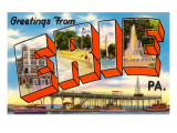 Greetings from Erie, Pennsylvania Print