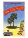 Greetings from South Carolina Print